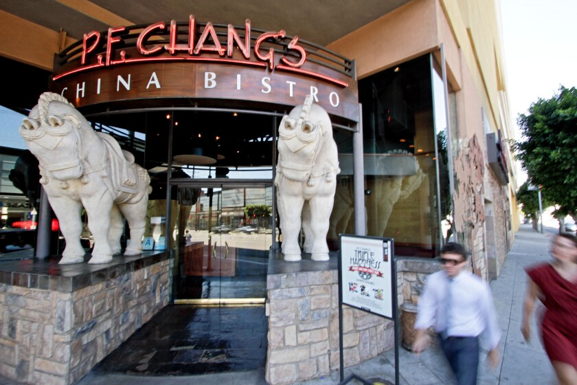 P.F. Chang's locations in California were not among those targeted in a recent data breach, according to a report. Above, a P.F. Chang's at the Beverly Center.