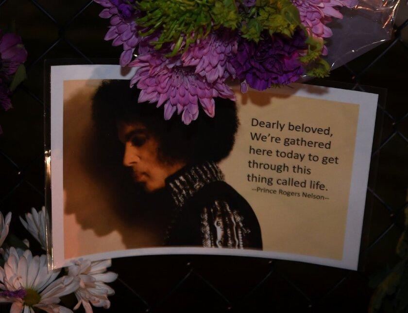 Messages left by fans outside Prince's Paisley Park compound