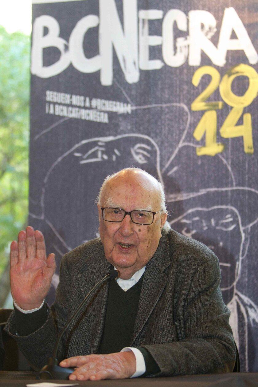 Italian writer Andrea Camilleri received the Pepe Carvalho Prize for noir fiction in Barcelona, Spain, on Thursday.
