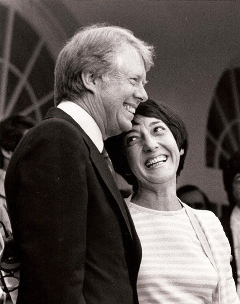 This photo of Midge Costanza with President Jimmy Carter in 1977 was posted by District Attorney Bonnie Dumanis, recalling Costanza's White House role in early days of gay rights.