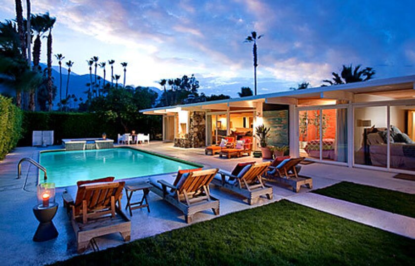Former Palm Springs home of Tony Curtis and Janet Leigh