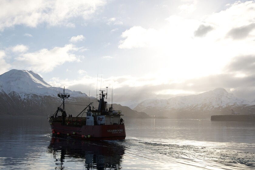 "The Seabrooke, a vessel often seen on the TV reality show ""The Deadliest Catch,"" at Dutch Harbor, Alaska. Cast members from the show will appear on Princess ships in the spring and summer."