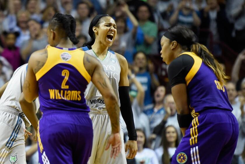 Maya Moore has won four WNBA titles with the Minnesota Lynx.