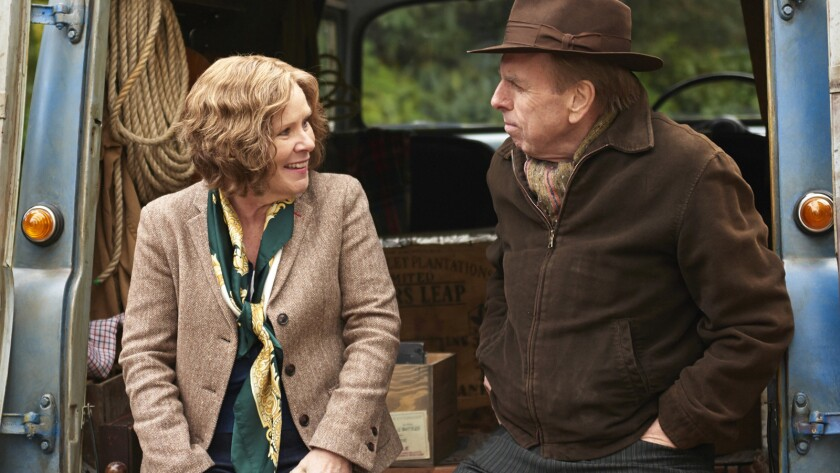 """Imelda Staunton and Timothy Spall in the movie """"Finding Your Feet."""""""