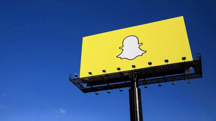 Venice-based Snapchat, whose logo is seen here on a billboard promoting the company, has been the beneficiary of California's tax credit program.