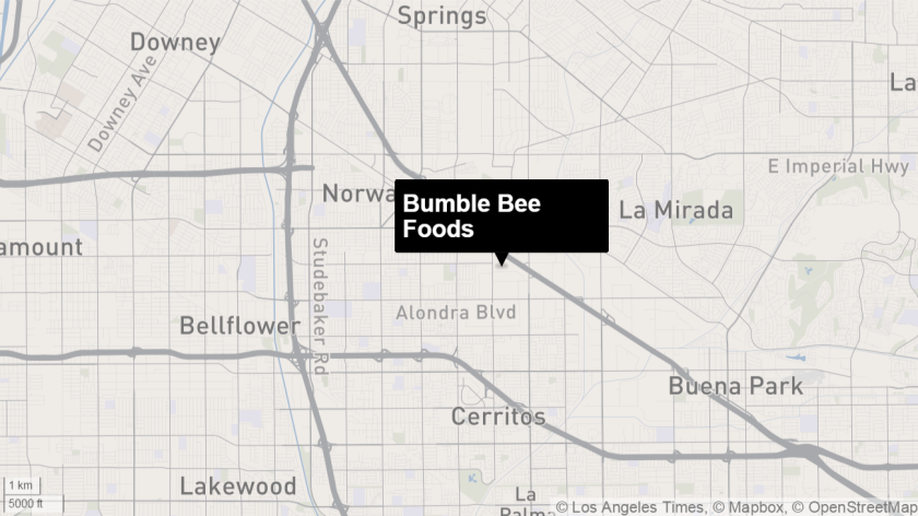 An employee burned to death inside an industrial pressure cooker at the Bumble Bee Foods plant in Santa Fe Springs in 2012.