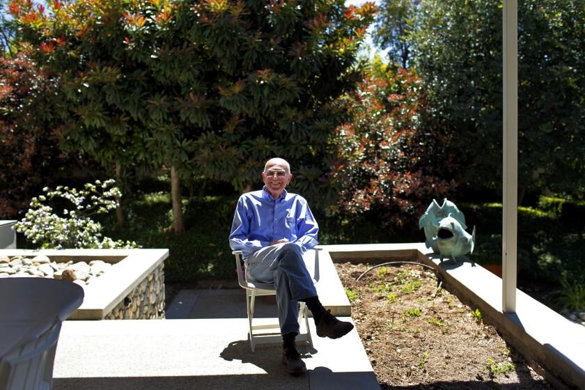 Trader Joe's founder Joseph Coulombe at his Pasadena home in 2011.