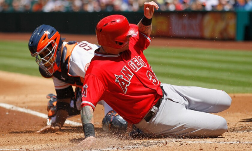 The bounces are going Josh Hamilton's way early in season for Angels