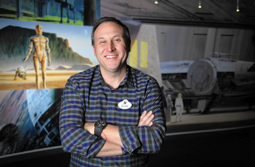 Scott Trowbridge, portfolio creative executive at Walt Disney Imagineering, says his job is to challenge experts to combine their skills even when he doesn't understand all of the technology himself.