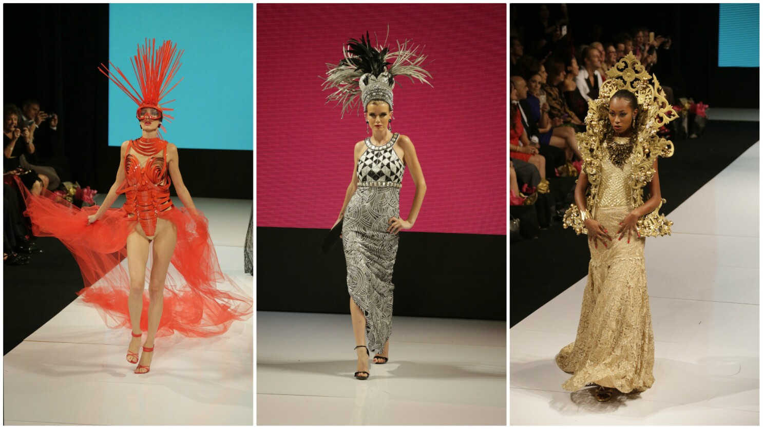 Sue Wong Kicks Off La Fashion Week With A Spiky Sexy And Over The The Top Collection Los Angeles Times