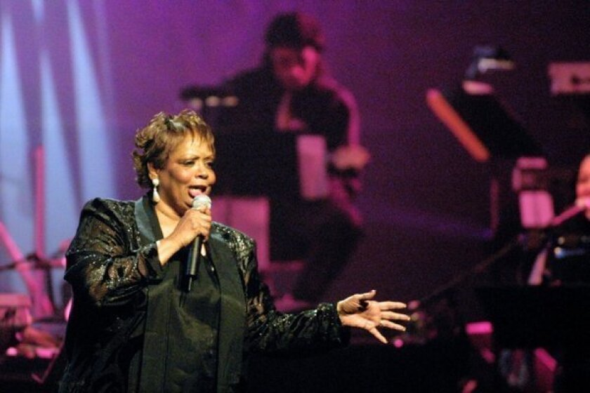 Fontella Bass performs in November 2001 at the Rhythm & Blues Foundation's 12th annual Pioneer Awards at the legendary Apollo Theatre in New York.