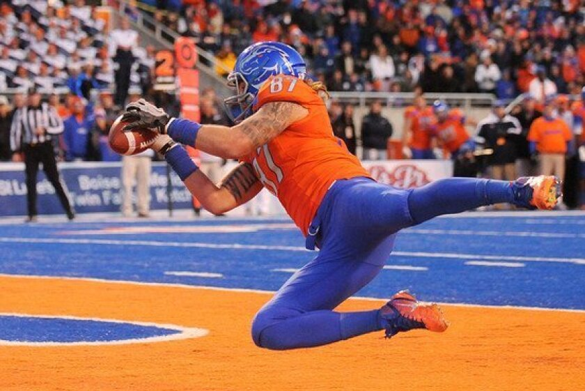 Boise State senior tight end Gabe Linehan hopes to rebound in 2013 after his junior campaign was cut short due to injury.