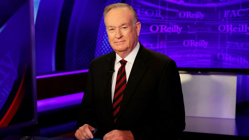 """Bill O'Reilly on the set of """"The O'Reilly Factor"""" on the Fox News Channel on Oct. 1, 2015."""