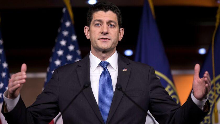 House Speaker Paul D. Ryan.
