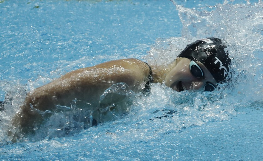 Katie Ledecky of the U.S. at the world championships in South Korea
