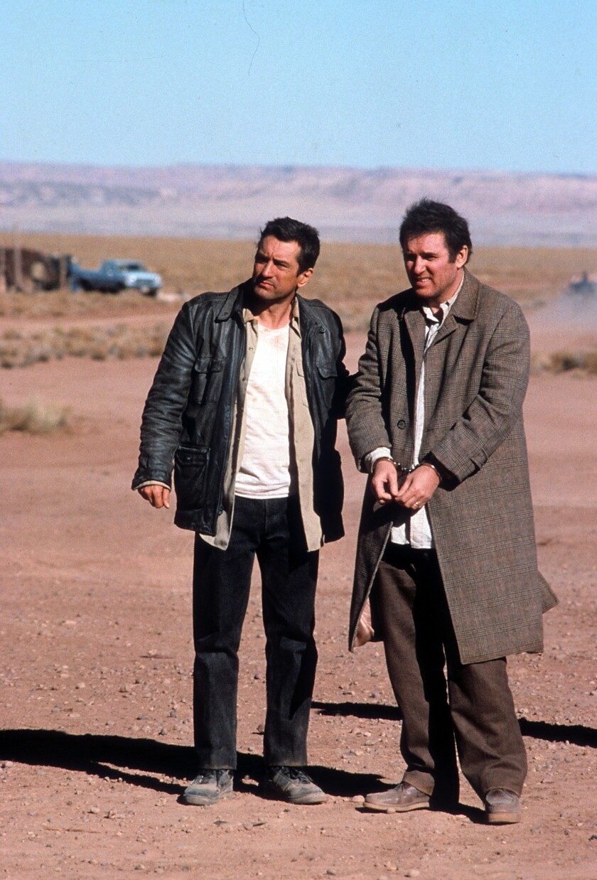 """Charles Grodin, right, with Robert De Niro, in the movie """"Midnight Run."""""""