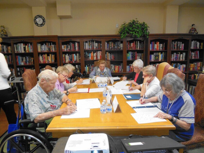 Senior citizens write their stories in a guided autobiography class similar to one starting this week in Huntington Beach.