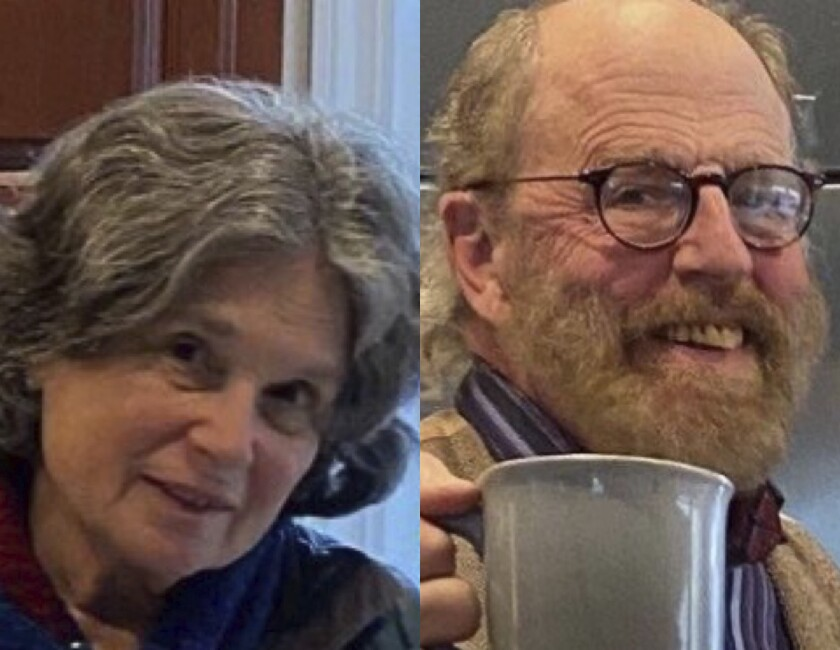 Carol Kiparsky and Ian Irwin are shown in undated photos released by the Marin County Sheriff's Office.
