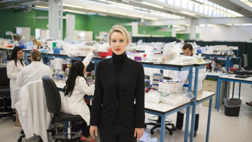 "Elizabeth Holmes, here in a scene from a new HBO documentary ""The Inventor,"" has captivated readers, podcast listeners and Hollywood directors."