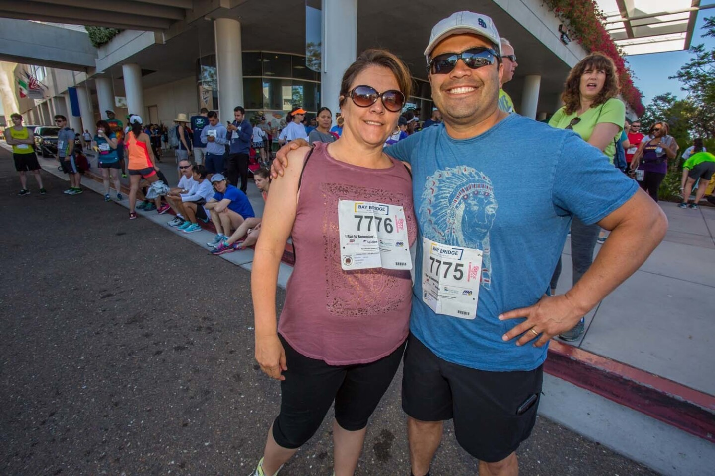 The annual Navy-hosted Bay Bridge run, whose profits benefit Quality of Life programs for both active and retired military members and their families, returned to San Diego on Sunday, May 21, 2017.