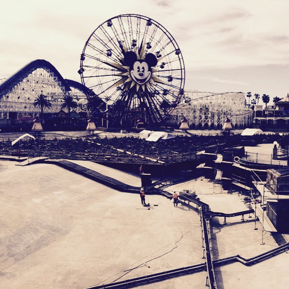 """An empty lagoon as Disney's California Adventure readied its new """"World of Color"""" show this winter."""