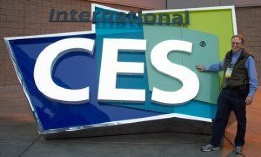 Jan Wagner by the International CES sign