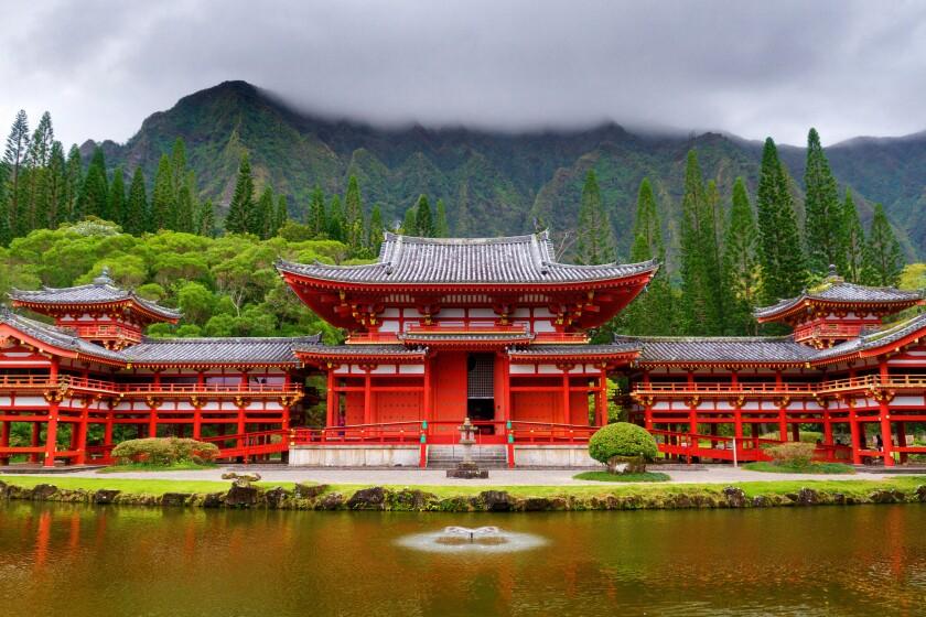 Byodo-In Buddhist Temple in Oahu, Hawaii.