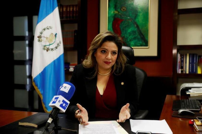 La ministra guatemalteca de Relaciones Exteriores, Sandra Jovel. EFE/Archivo