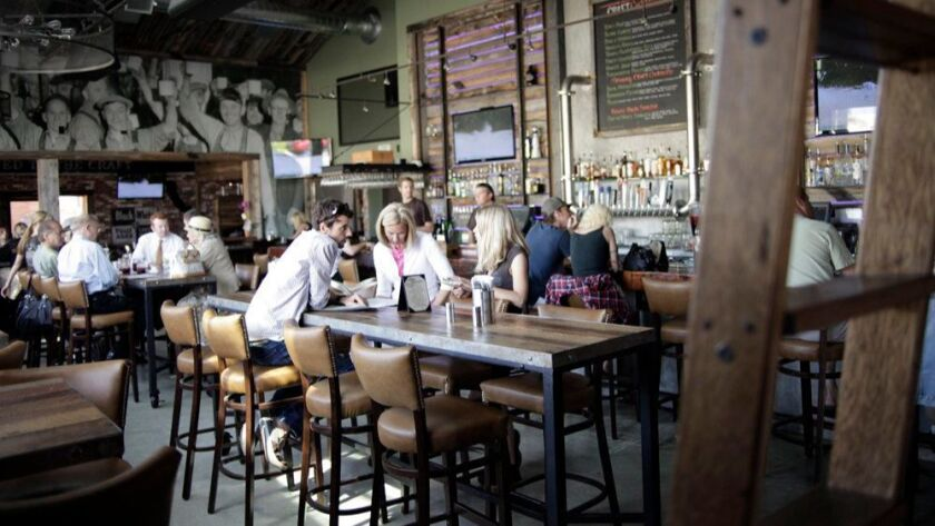 One of the dining areas inside Union Kitchen & Tap in Encinitas.