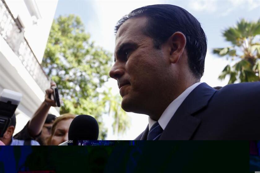 El Gobernador electo Ricardo Rossello, del Partido Nuevo Progresista, llega hoy a la Fortaleza para reunirse con el actual Gobernador Alejandro Garcia Padilla, del Partido Popular Democratico. EFE/Archivo