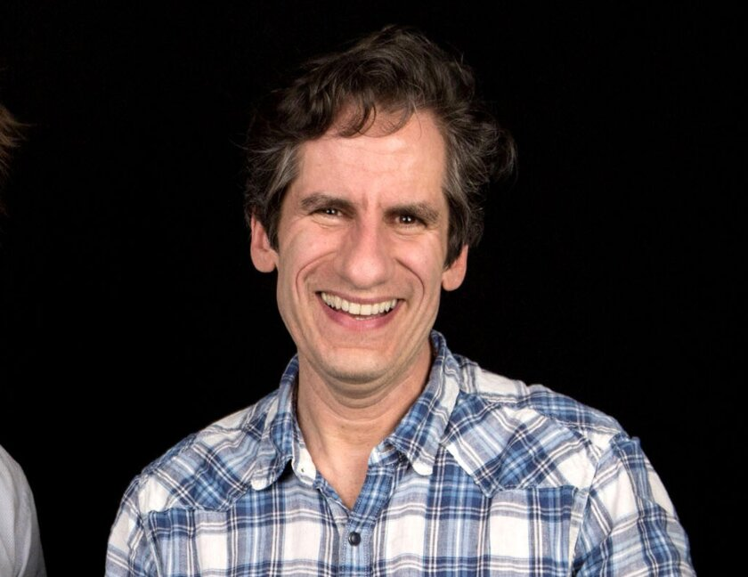 "FILE - In this April 1, 2016 file photo, Seth Rudetsky poses after an interview in New York. Rudetsky and his husband, producer James Wesley enlisted a group of Broadway veterans including Audra McDonald and Idina Menzel to record a new version of the iconic 1965 song ""What the World Needs Now is Love,"" with all proceeds going to help the LGBT Center of Central Florida. (Photo by Amy Sussman/Invision/AP, File)"