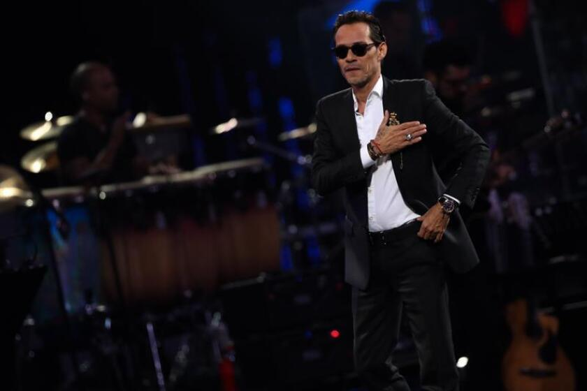 Singer Marc Anthony performs during the Vina del Mar International Festival, in Vina del Mar, Chile, 26 February 2019. EPA-EFE/ Jose Miguel Caviedes