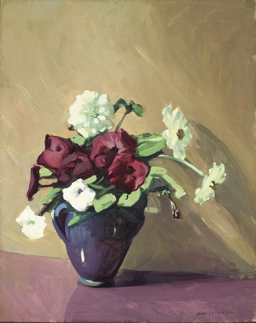 Jane Peterson, Petunias and Zinnias, ca. 1926. Oil on canvas. The San Diego Museum of Art, Gift of Mr. and Mrs. Allen Willett. 1993.68