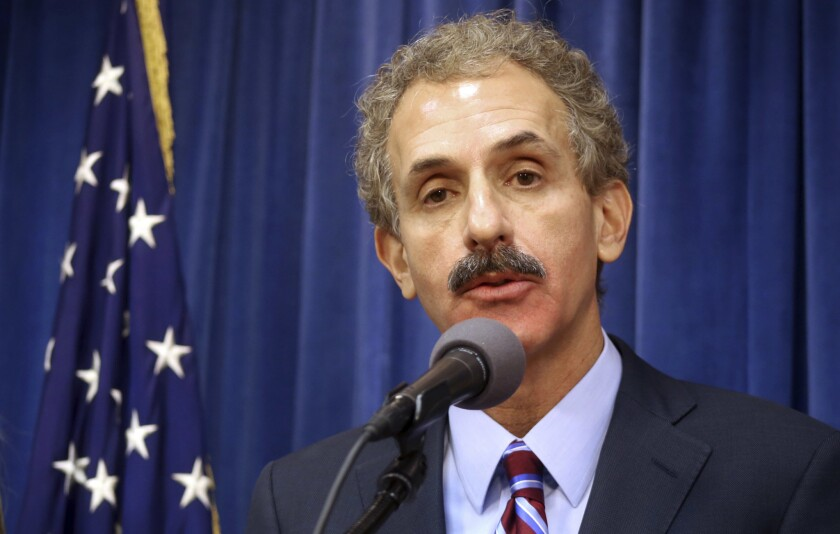 """If you are selling a product that you claim protects homes against wildfires, it had better work as advertised,"" said Los Angeles City Atty. Mike Feuer, shown in a 2017 photo."