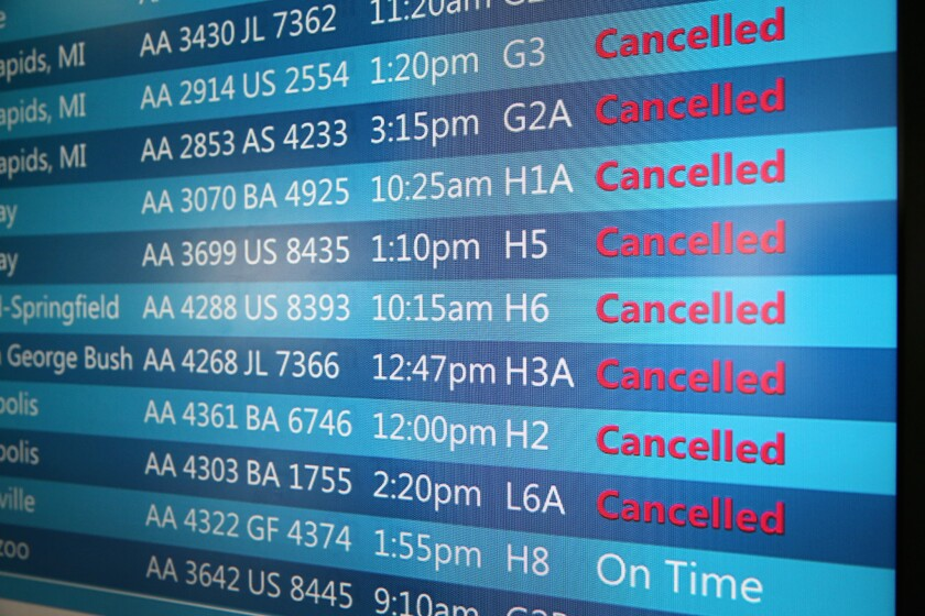 Flight cancellations at Chicago's O'Hare