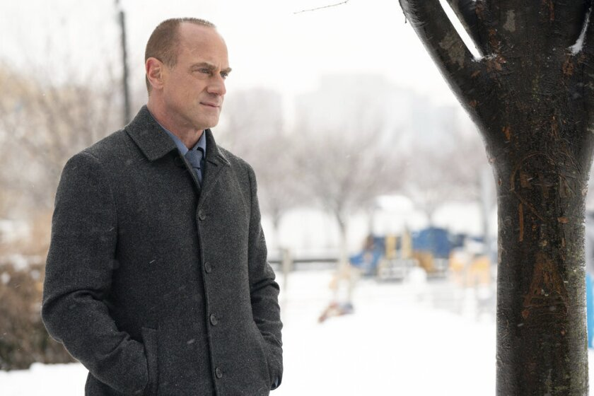"""Christopher Meloni portrays Det. Elliot Stabler in a scene from the new """"Law & Order: Organized Crime"""" series premiering April. 1 on NBC. (Virginia Sherwood/NBC via AP)"""