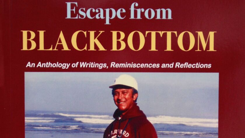 "Cover detail for the newly published anthology of stories, essays and photos of Major Morris, ""Escape from Black Bottom."""