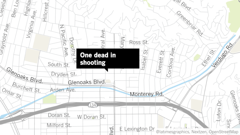 One man is dead and another hospitalized after a shooting in the 1100 block of North Central Avenue on Sunday evening, according to Glendale police.