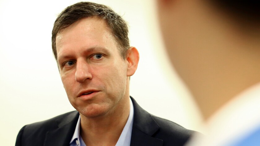 Palantir was co-founded by Peter Thiel, shown in 2015, with backing from an investment arm of the CIA.