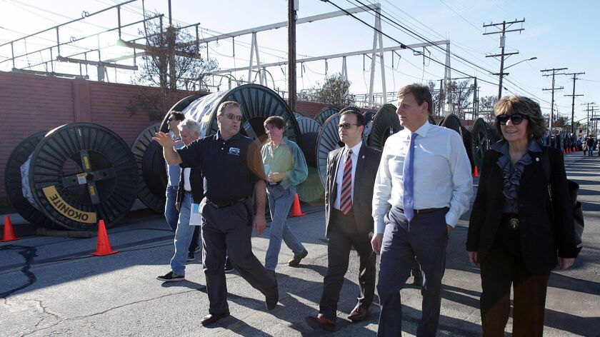 The Glendale City Council and some members of the public begin a tour of Grayson Power Plant where t