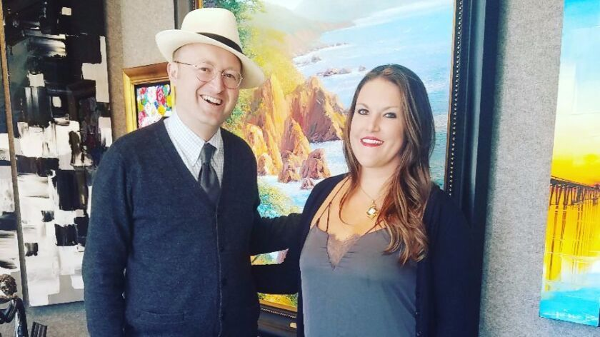 : Jessica Fry, director of The Signature Gallery in Laguna Beach and vice president of First Thursda
