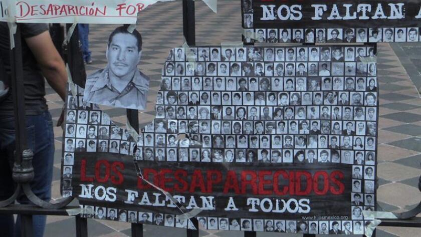 Hace hoy 40 años, un grupo de madres mexicanas emprendió una huelga de hambre en el centro de Ciudad de México para exigir la búsqueda de sus hijos desaparecidos en manos de las autoridades, un fenómeno que no solo sigue impune, sino que todavía sigue ocurriendo en México. EFE/MÁXIMA CALIDAD DISPONIBLE