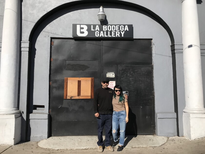 "After six years in their current space, Soni-Lopez Chavez and Chris Zertuche are being priced out of their ""La Bodega Gallery"" in Barrio Logan after they were informed of a rent increase that they cannot afford, making them another casualty to the gentrification of Barrio Logan and Logan Avenue. They were photographed on Tuesday, Dec. 3, 2019."