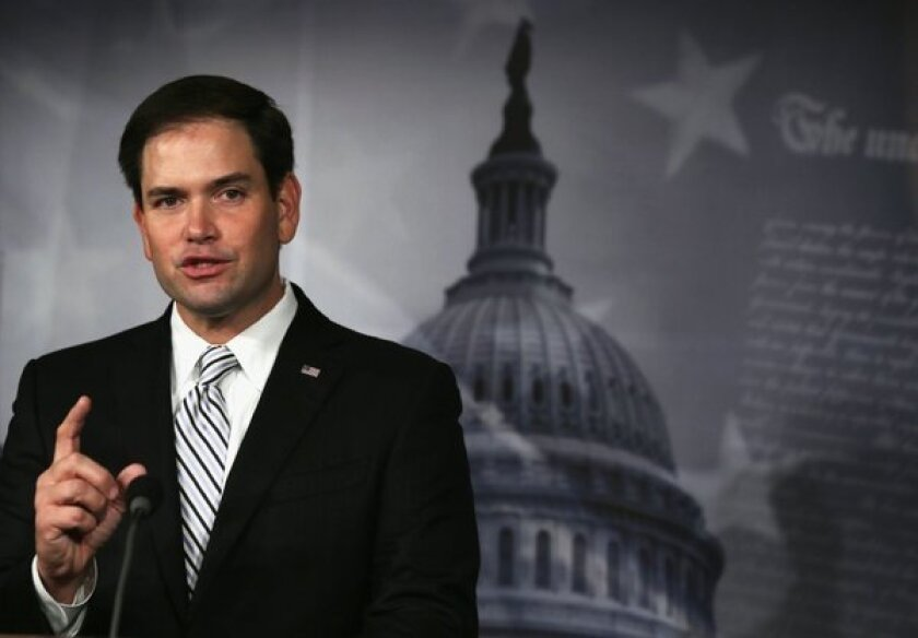 Sen. Marco Rubio (R-Fla) standing up for -- what, exactly?