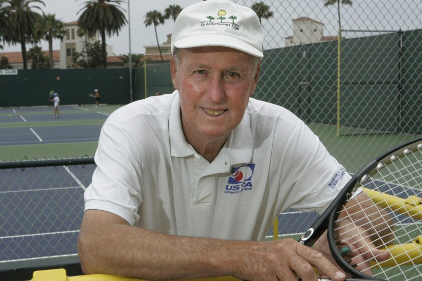 Teaching pro Bob Perry will be honored at the La Jolla Tennis Championships on Sunday. (Eduardo Contreras / Union-Tribune)
