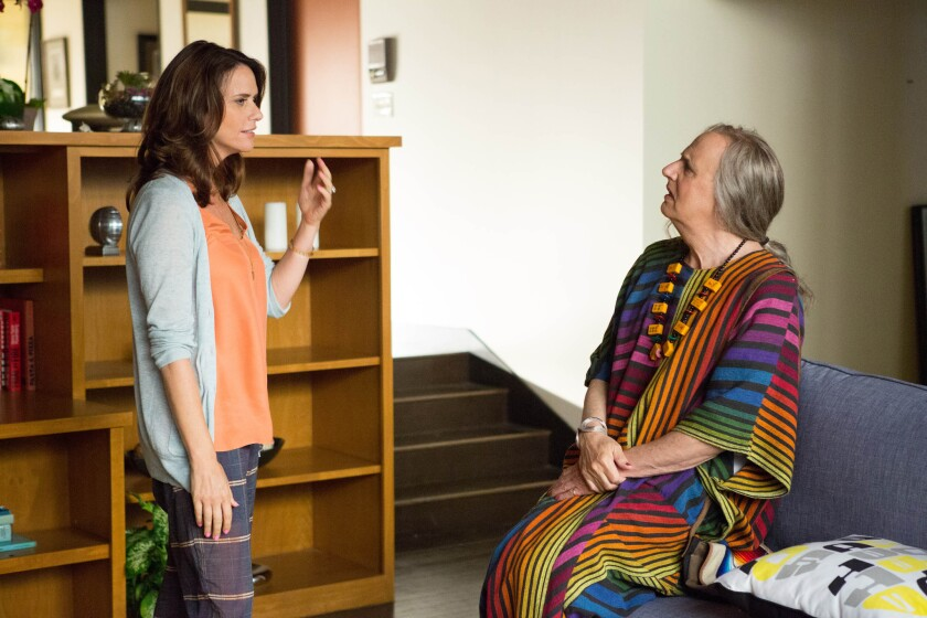 "Amy Landecker, left, and Jeffrey Tambor in the series ""Transparent"" on Amazon Digital."