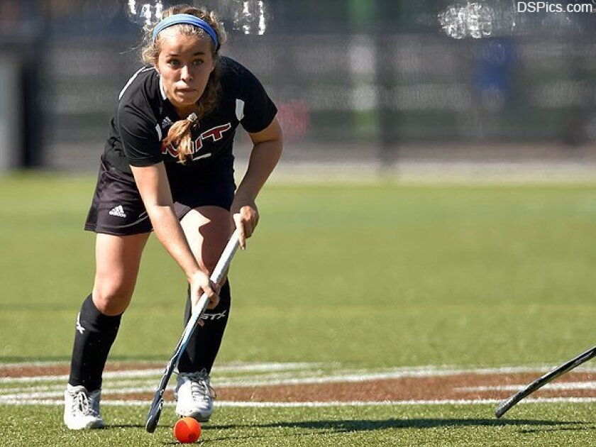 Torrey Pines High School graduate Caitlin Mackey, a senior at MIT, has been chosen to play in the NFHCA senior game. Photo by David Silverman Photography