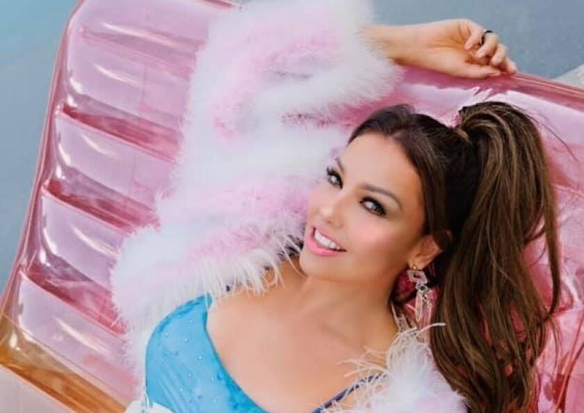 La cantante mexicana en una foto publicada en sus cuentas de las redes sociales.