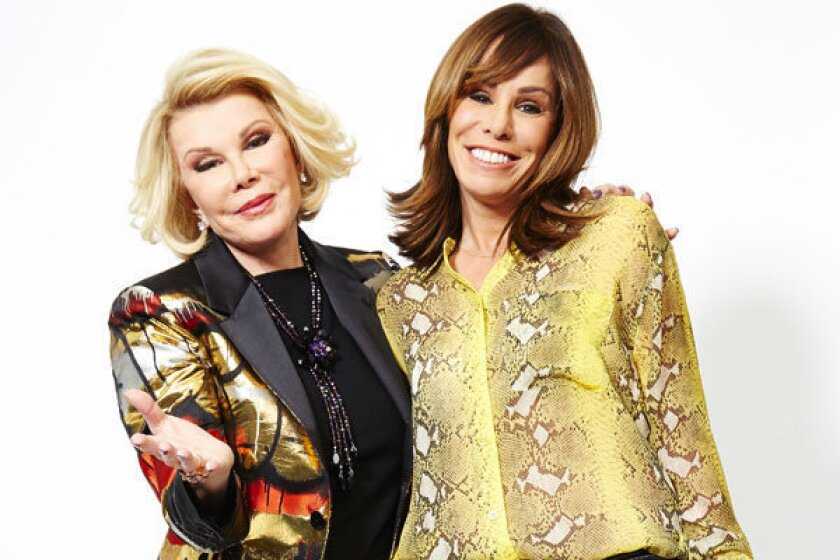 This Feb. 21, 2013 photo shows comedian Joan Rivers, left, and her daughter Melissa Rivers in New York.