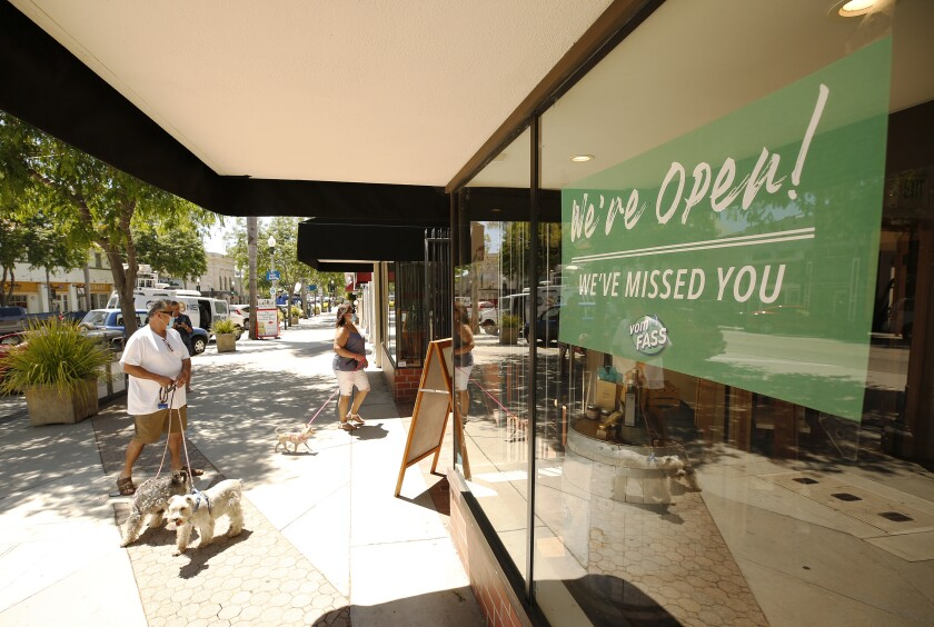 Shops in downtown Ventura reopen after being shut down by the COVID-19 pandemic.